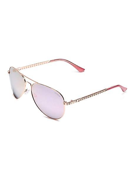 4fa367109e4 GUESS Factory Women s Metal Chain-Link Aviator Sunglasses  Amazon.ca   Clothing   Accessories