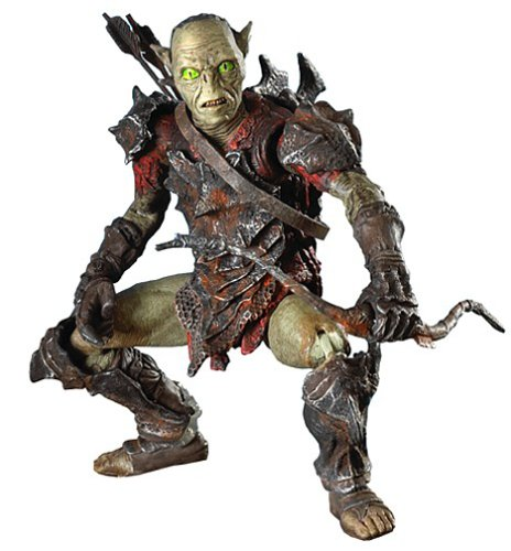(The Lord of the Rings The Fellowship of the Rings Moria Orc Archer Action Figure with Evil Goblin)