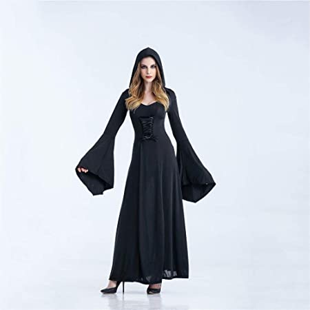 Yunfeng Halloween Bruja Disfraz para Mujer Ropa de Vampiro ...