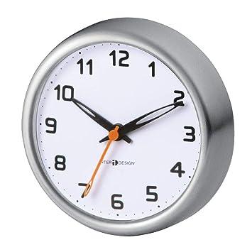mDesign Horloge de Salle de Bain avec ventouses – Pendule Murale pour  Douche à accrocher – étanche, adhérence Parfaite