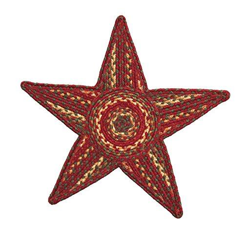 """Homespice Decor Cider Barn Jute Braided Trivet Rug 20"""""""" x 20"""""""" Star , Rug , Home Garden Living"""