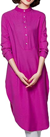 Tupath Camisa de Fiesta árabe Suelta Casual para Mujer ...