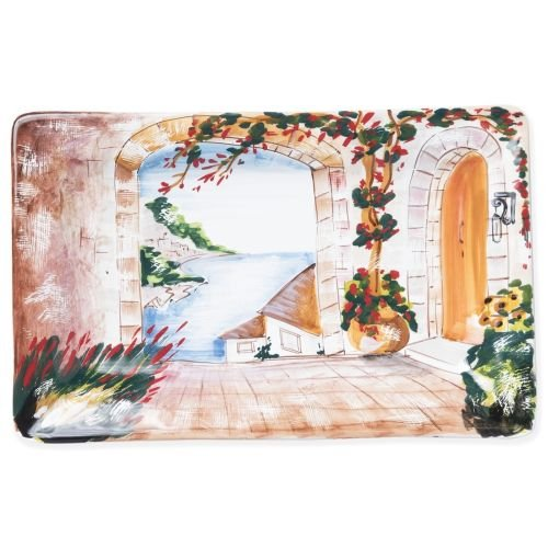 (Vietri Landscape Wall Plates Inside Looking Out Rectangular Wall Plate)
