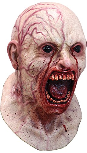 Ghoulish Men's Horror Screaming Infected Zombie Latex Mask
