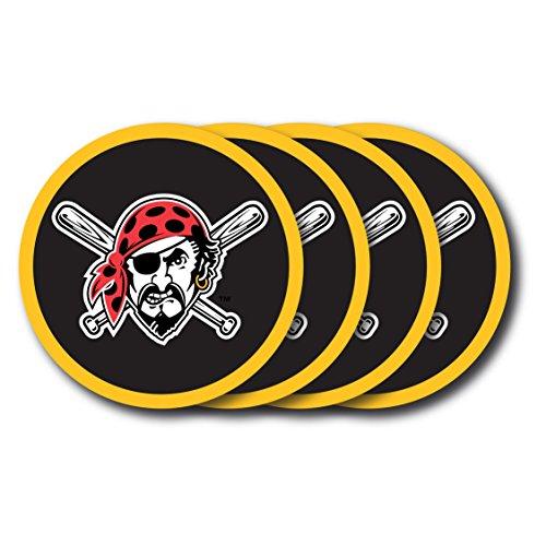 (MLB Pittsburgh Pirates Vinyl Coaster Set (Pack of 4))