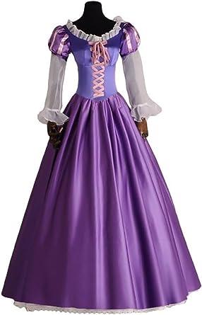 Adulto Mujer Enredados Rapunzel princesa disfraz Deluxe Vestido ...