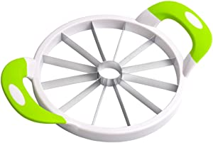 joyMerit Watermelon Slicer, Stainless Steel Fruit Cutter, Kitchen Utensils Gadget for Apple, WaterMelon, Cantaloupe, Melon and More - 15.7'' Diameter