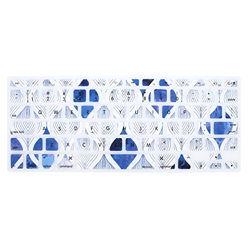- MOSISO Keyboard Cover with Pattern Compatible 13/15 Inch(with/Without Retina Display,2015 or Older Version), Older MacBook Air 13 Inch (A1466/A1369, Release 2010-2017),Blue & White Spiral Ripple