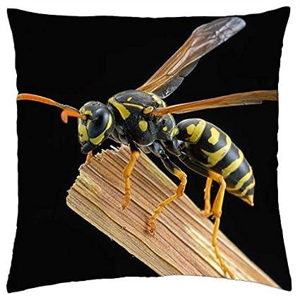 Chaqueta amarilla o avispa - Funda de almohada manta (18