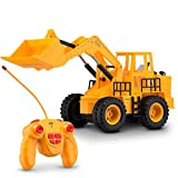 Toydaloo Remote Control Toy Front Loader, Fully Functional with Lights and Sounds