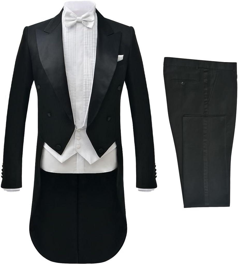 vidaXL 2tlg. Herren Frack Anzug Bräutigam Anzug Hochzeit Slim Fit Größe 46 56