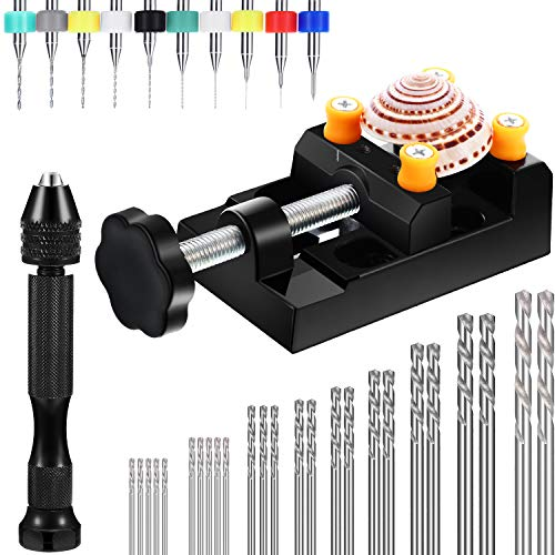 37 Pieces Hand Drill Set, Include Pin Vise Hand