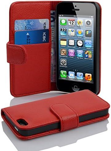 apple custodia in pelle iphone 5 e iphone 5s rosso