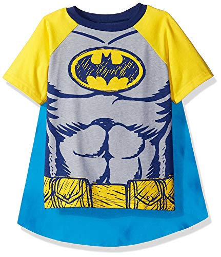 Warner Bros. Toddler Boys Batman Cape T-Shirt Set  Yellow  4T