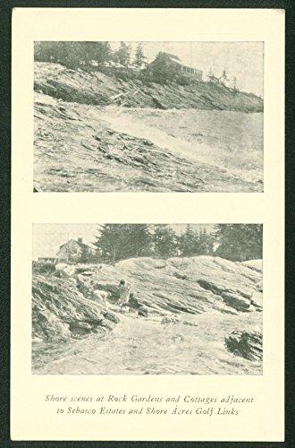 Maine Rock Garden and Cottages SEBASCO ESTATES Golf Postcard