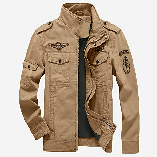 (WEEN CHARM Mens Casual Cotton Military Jackets Outdoor Coat Windproof Windbreaker)