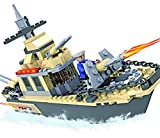 #9: 236-Piece Building Block Set - Plastic Military Toy Warships for Boys and Girls - Promotes Cognitive and Social Skills, Early Learning - Supports Hand-Eye Coordination