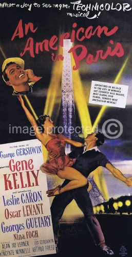 An American in Paris Vintage Movie Poster