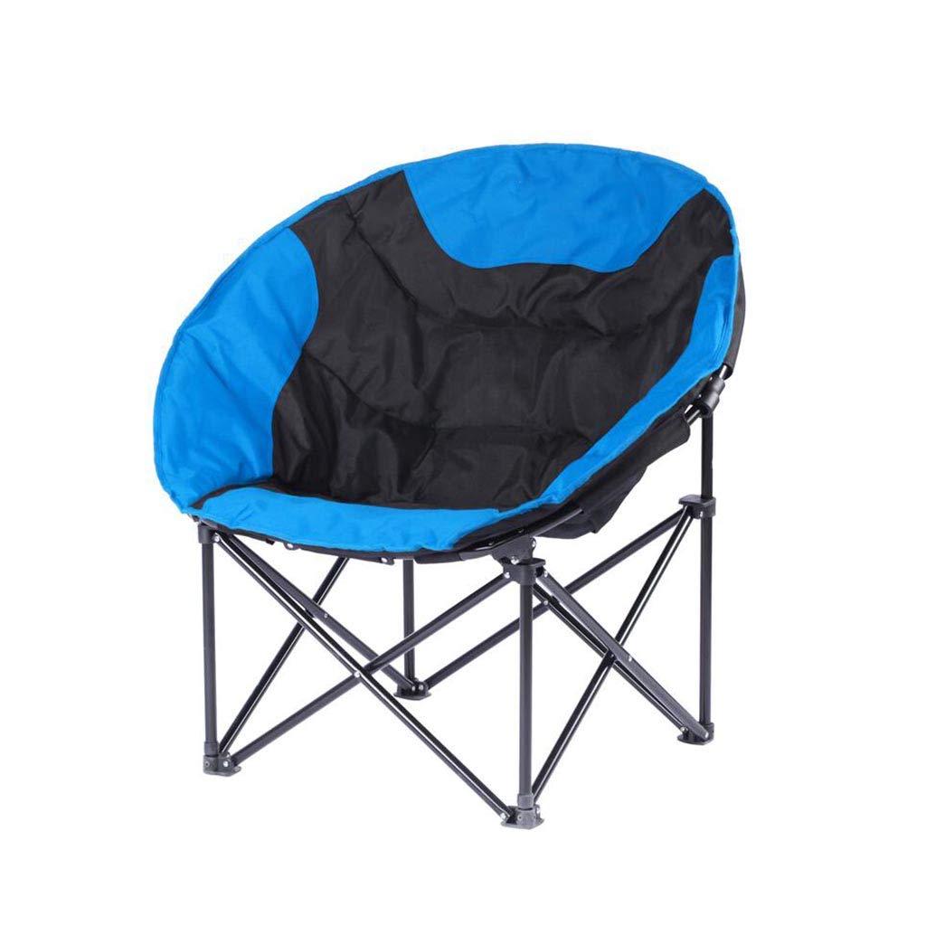 QZ HOME Stühle, Klappstuhl Sonnenliege Computer Stuhl Hilfsstuhl Einfach Im Freien Haushalt (Farbe : Blau)