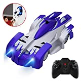 Toys for 5-8 Year Old Boys, Joyjam Wall Climbing Car RC Cars Stunt Vehicle Race Car, Boys Kids Toys 6-10 Birthday Gifts PQC Blue