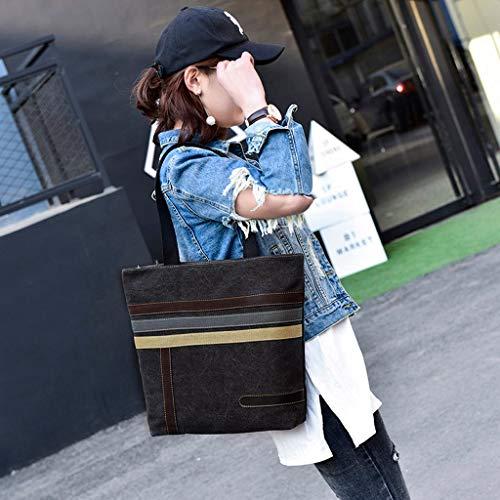 Lona Bolsa Mujer Bolso Shoppers Sencillo Negro Bandolera De Viaje Desigual Totes Bolsos Mochila Vida I84xxP