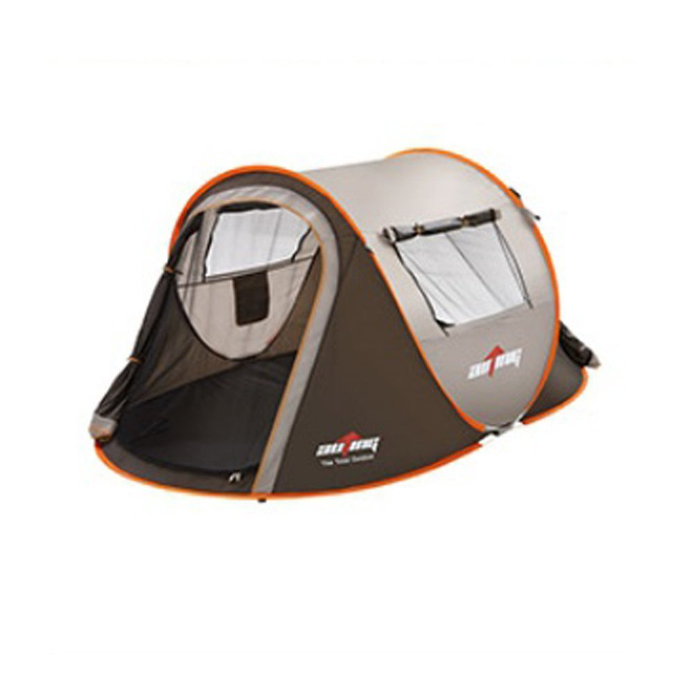 auting 4 person instant pop up tent two doors two windows set up and