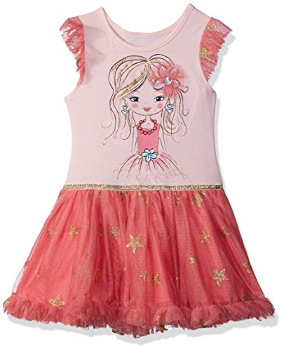 Nannette Little Girls' Tutu Dress, PinkL, 4 (Pin Little Pink Dress)