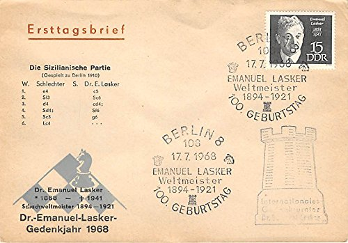deutscher-schachverband-schach-festival-1968-envelope-old-vintage-chess-checkers-postcard-post-card