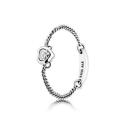 73ab18abc Pandora Women Silver Solitaire Promise Ring - 197191CZ-60: Amazon.co.uk:  Jewellery