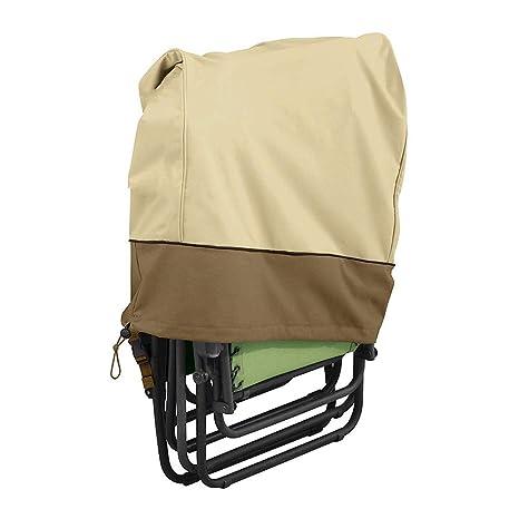 MILECN Fundas para sillas Plegables al Aire Libre, Cubierta de sillón reclinable de Gravedad Cero a Prueba de Polvo Resistente a los Rayos UV