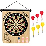 Sports Home Sloth Riding Bike Magnetic Dart Board Safe Precision Darts, Best Gift for Boys & Girls, Great Classic Game the Whole Family can Enjoy - Play in Teams or Solo, Simple & Easy to Install