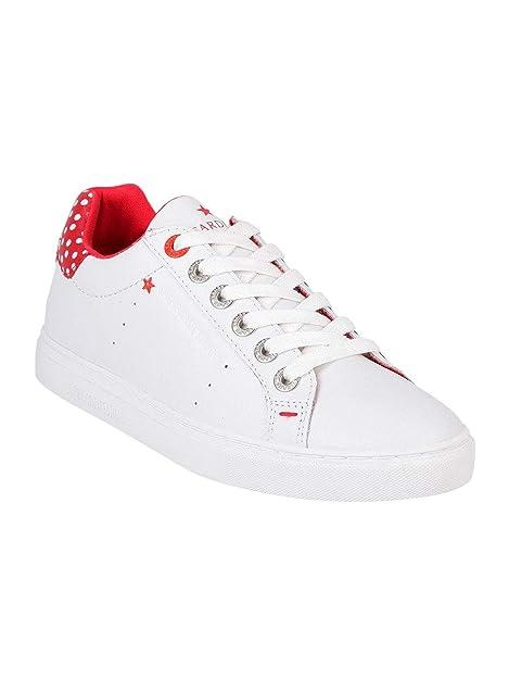 Trussardi Jeans Sneakers Bianche Stringate Donna Vera Pelle  Amazon.it   Scarpe e borse ad9d010410f