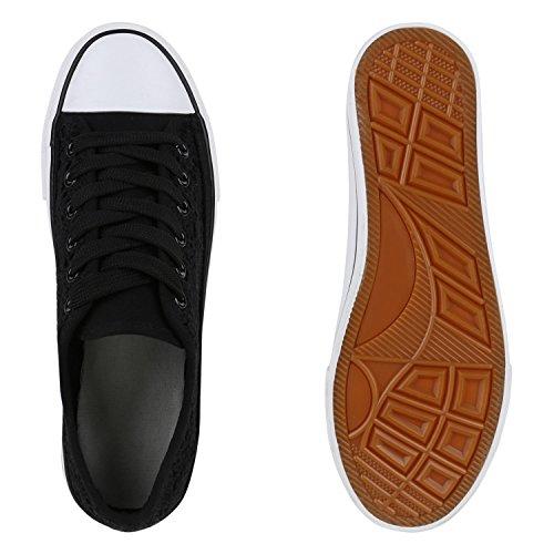 Spitze Schwarz Herren Damen Low Stiefelparadies Übergrößen Unisex Flandell Sneaker qC0axF8wa