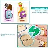 Alphabet Puzzle Set, Wooden ABC Letter Puzzles