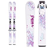 2016 Volkl Chica 120cm Junior Skis w/ 3Motion 4.5 Ski Bindings