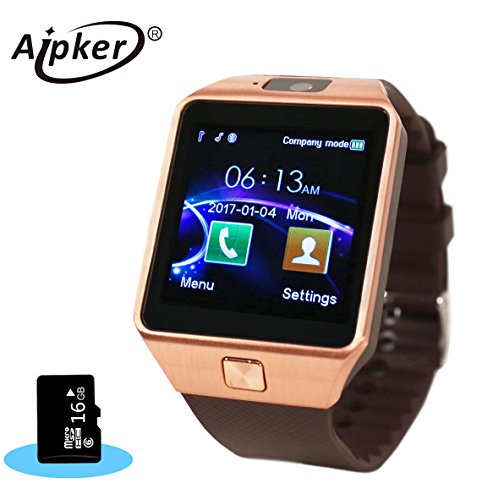 Aipker Smart Watch Bluetooth Smartwatch Phone with 16GB TF ...