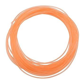 Correas redondas de uretano de alto rendimiento, correa de transmisión de PU Correa redonda de poliuretano para transmisión de transmisión Naranja(2mm*10m): ...