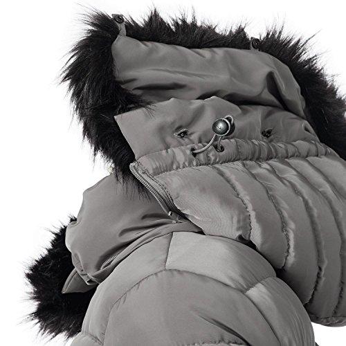 Dame d'hiver Une avec Capuche Adele Couleurs Navahoo Gris Noire 11 XS en XL pour Fourrure Fausse Veste gYnqEgwI