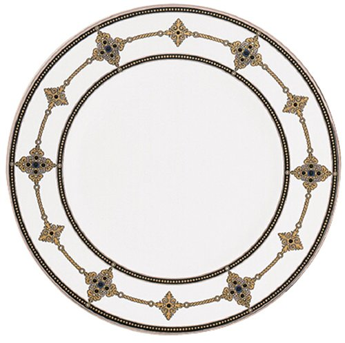 Lenox Vintage Jewel Platinum Banded Bone China 9 Accent Plate Lenox China Accent Plate