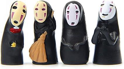 Amazon Com Cute No Face Men Figure 4 Pcs Japan Cartoon Faceless Men Action Figure Collection Model Doll Toy Gifts Toys Games