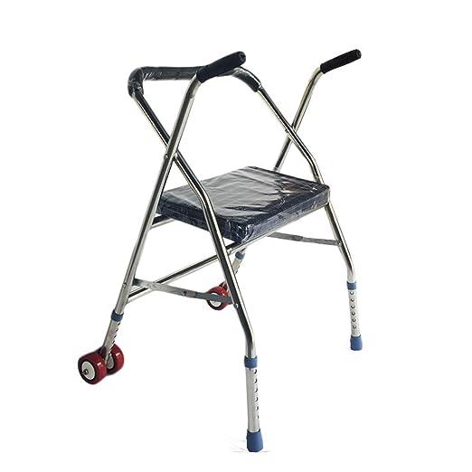 MyAou-Andadores Rueda de cinturón de Acero con Placa de ...