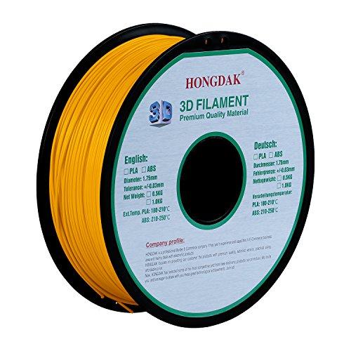 HONGDAK Printing Filament Dimensional PLA 1000g 1 75mm YELLOW product image