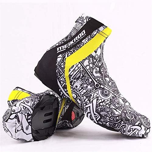 シューズカバー 男性と女性のアウトドアスポーツ自転車用靴の自転車の靴の一組は、風ロック靴のほこりを巻き上げます 通勤 通学 自転車用 (Color : Black, Size : XL)