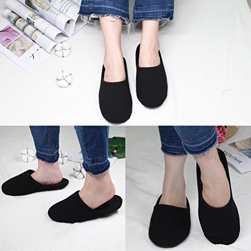 Anti Slippers Women's Ofoot Washable Foam Memory Black Indoor Slip Cotton 8HqSX
