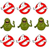 """12 Ghost Busters 2"""" Circle Stickers for Birthday Party Favor Slimer Decor Cake Ghostbusters Birthday Labels Tags"""