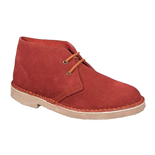 Roamer Original Unisex Suede Leather Desert Boots Red Red Real Suede grTIZy6yRd