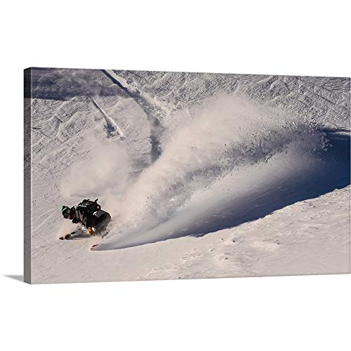 (GREATBIGCANVAS Gallery-Wrapped Canvas Entitled Pat A Riding Powder at Mt Baker by Sean Sullivan 48