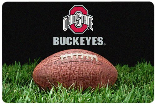 NCAA Ohio State Buckeyes Classic Football Pet Bowl Mat, Large