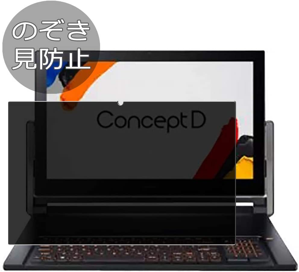 """Synvy Privacy Screen Protector Film for Acer ConceptD 9 CN917-71 17.3"""" Anti Spy Protective Protectors [Not Tempered Glass]"""