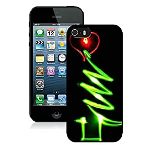 Customized Design Glow Iphone 5S Protective Cover Case Christmas Tree iPhone 5 5S TPU Case 1 Black